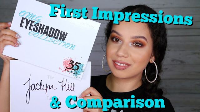 Crown OMG palette - First Impressions & Jaclyn Hill Palette Comparison