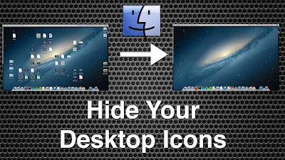 How to Hide Desktop icons in Windows, Mac when not in use