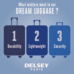 DELSEY Travel Wish Contest - Win Airfare Credit & New Luggage!