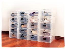 Bebas Clear Shoes Box Kotak Sepatu Transparan