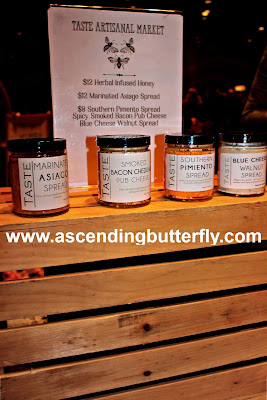 Taste Artisanal Market presented their Herbal Infused Honey, Marinated Asiago Spread, Southern Pimiento Spread, Spicy Smoked Bacon Pub Cheese and Blue Cheese Walnut Spread