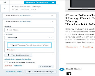 Cara Menambahkan Ikon Widget Sosial Media Di Wordpress