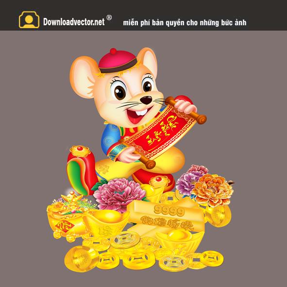 Vector con chuột năm tý 2020