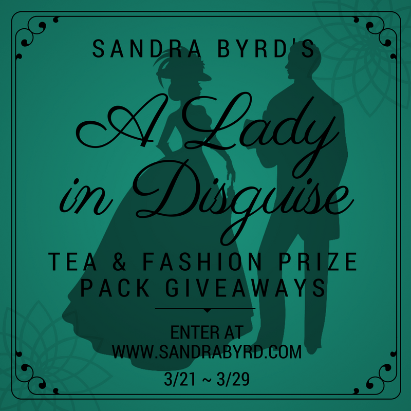 Sandra Byrd A Lady in Disguise Prize Packs Giveaway thru 3/29
