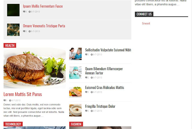 Flat News Template for blogger