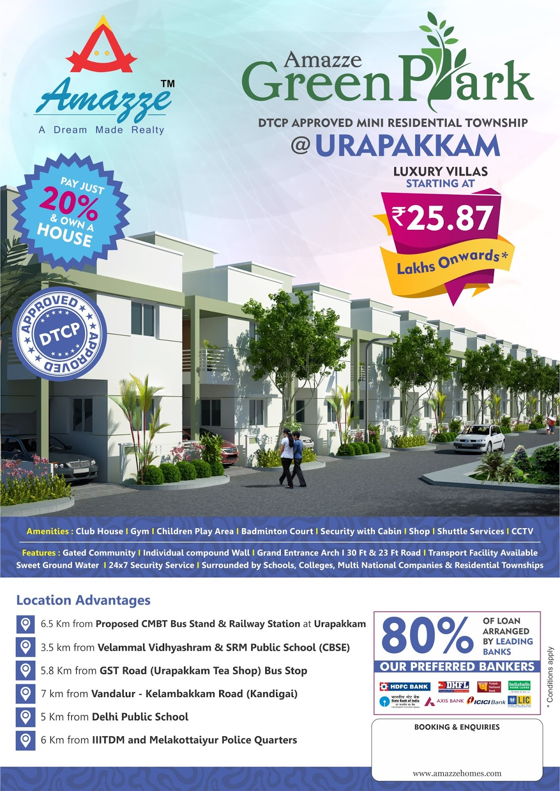 Chennai real estate amazze homes dtcp approved for Greenpark villas 2 malagasang