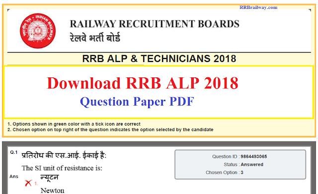 RRB Railway ALP & Technicians 2018 Answer Key Out | Download Question Paper PDF