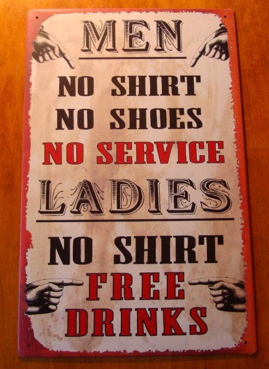 Funny Bar Shirt Drinks Sign Joke Picture