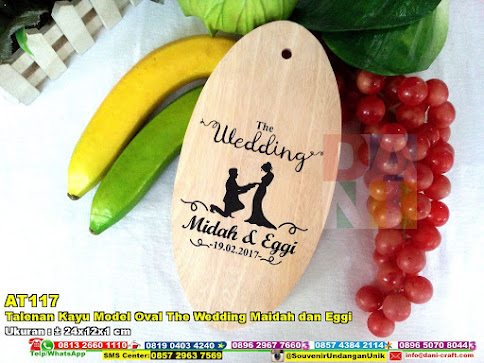 Talenan Kayu Model Oval The Wedding Maidah Dan Eggi