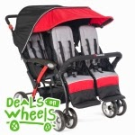 Quad Sport™ 4-Passenger Stroller Lime, Red or Orange