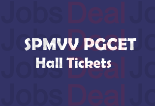 SPMVV PGCET Hall Tickets 2017