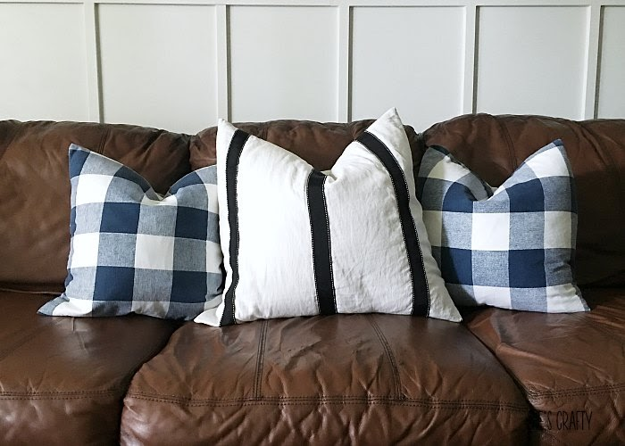low and no cost house updates- make new pillow covers