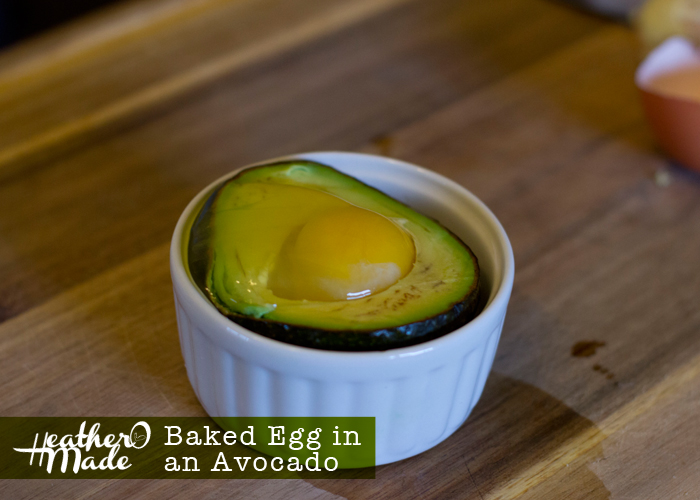 Baked Egg in an Avocado. breakfast. lunch. how-to
