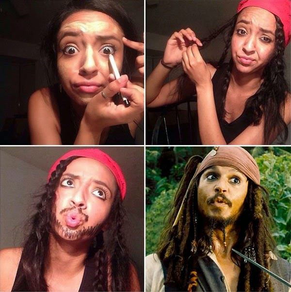 #makeuptransformation piratas do caribe