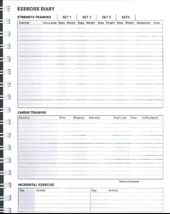 Workout journal template new calendar template site for Food and exercise journal template