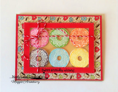 North Coast Creations: Sprinkled with Love Stamps and Dies, ODBD Custom Dies:Doubled Stitched Rectangles, Pierced Rectangles, North Coast Creations Paper Collection:Sweet Shoppe