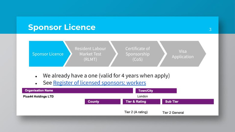 贊助執照 Sponsor License
