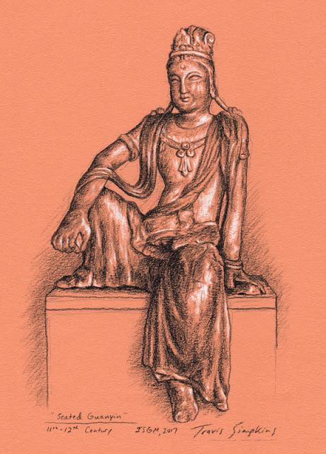 Seated Guanyin. Chinese Loggia. Isabella Stewart Gardner Museum. by Travis Simpkins