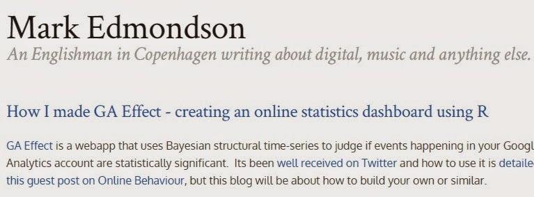 Mark Edmondson R stats Digital Analytics