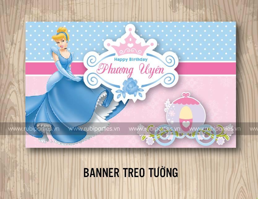 Banner treo tuong sinh nhat theo chu de Cong chua Lo Lem