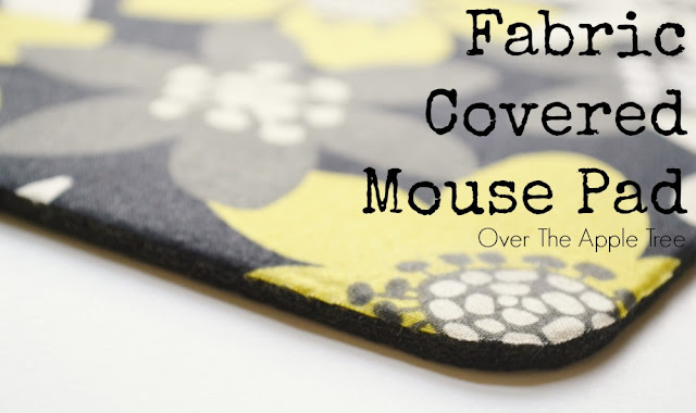 Fabric Covered Mouse Pad, Over The Apple Tree