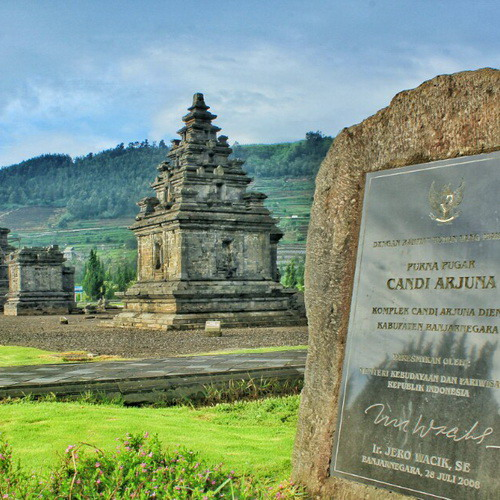 Tinuku Travel Dieng Temple, the mysterious Shiva Hindu architecture at altitude 2093 meters in Dieng plateau Wonosobo