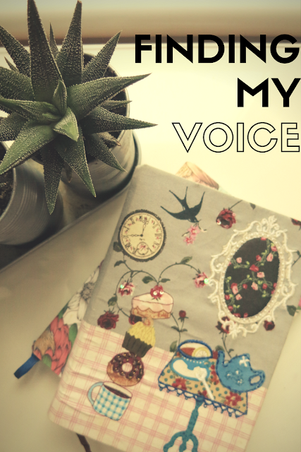 "Header image of a notebook bearing the title ""Finding My Voice"""