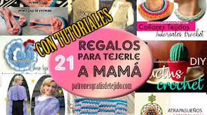 21 Regalos a Crochet para Regalar el Dia de las Madres / con Tutoriales DIY