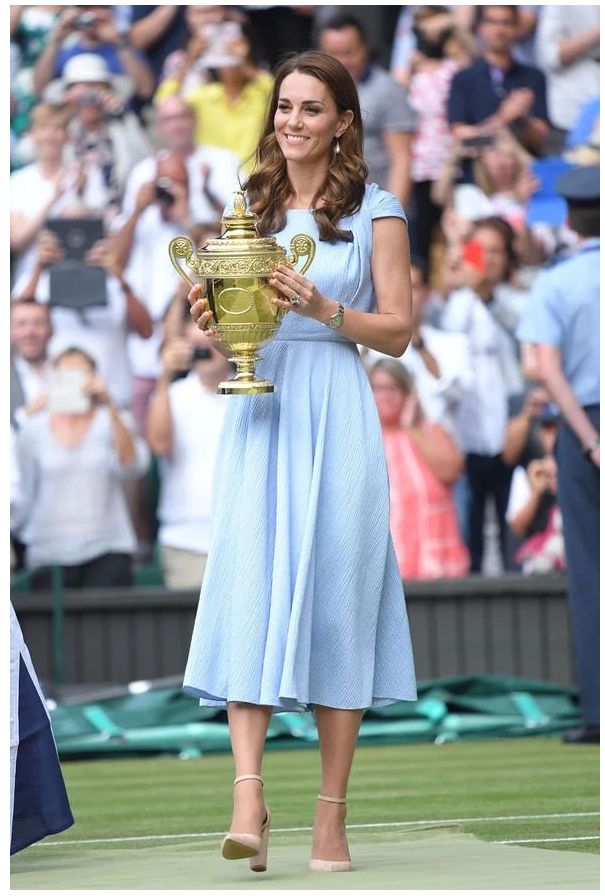 Duchess Kate Hands out the Wimbledon Trophy