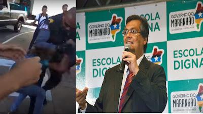 ESCOLA DIGNA DE FLÁVIO DINO: PM agride alunos que protestavam contra as péssimas condições da educação no Maranhão