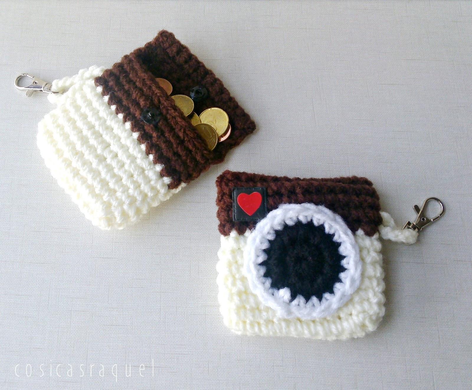 cosicasraquel: Monedero Cámara Crochet