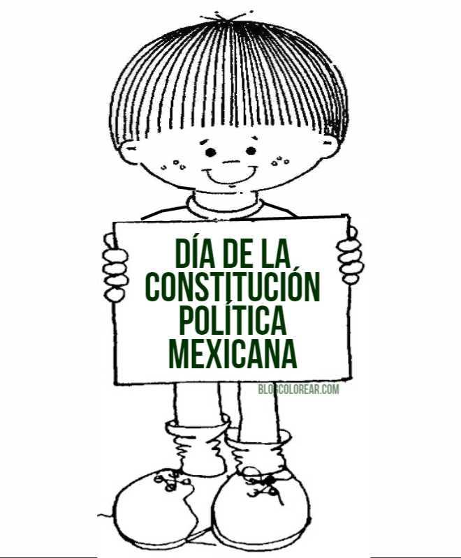 dibujos para colorear del Día de la constitución mexicana ...