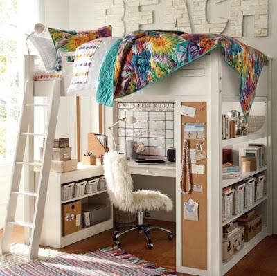 Dormitorio moderno con escritorio