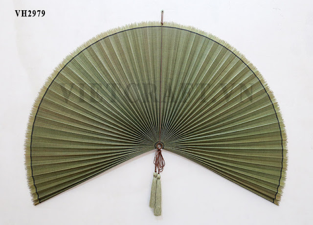 Bamboo Fan Vietnamese Decorative Large Bamboo Fan