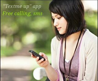 Textme up, app screenshot
