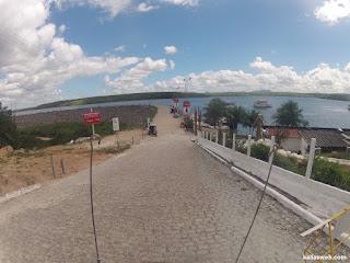 Entrada para o passeio de barco na represa de Xingó.