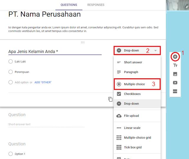 Cara Buar Formulir Lowongan Kerja Online Via Google Forms Cara Buat Formulir Lowongan Kerja Online