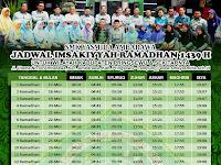 Design Jadwal Imsakiyyah Ramadhan 1439 H