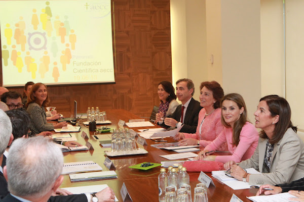Princess Letizia attended a meeting of the Scientific Board of the Foundation of the Spanish Association Against Cancer
