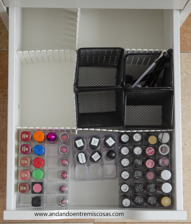 Organización de maquillaje 9