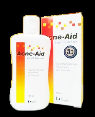 โฟมล้างหน้า Acne-aid ขวดแดง