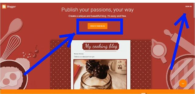 मोबाइल से फ्री में ब्लॉग कैसे बनायें-पूरी जानकारी हिंदी में - स्टेप बाई स्टेप 2019(latest tips.ooo), blogspot.com