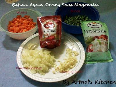 Bahan ayam goreng saus mayonaise