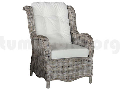 sillón orejero rattan j232