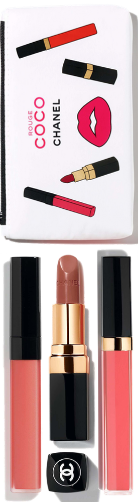 CHANEL ROUGE COCO CORAL SET (all included in bag)