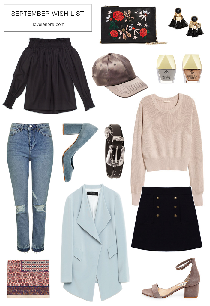 September wish list + fall trends