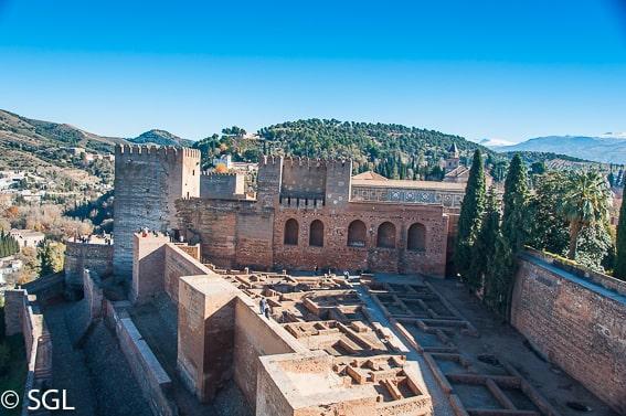 La Alcazaba. La Alhambra de Granada