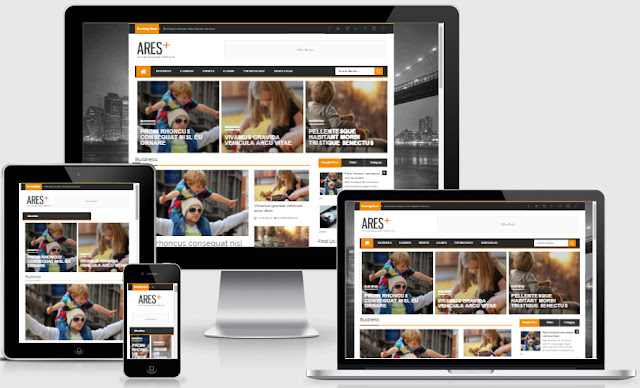 Ares Responsive Blogger Templates