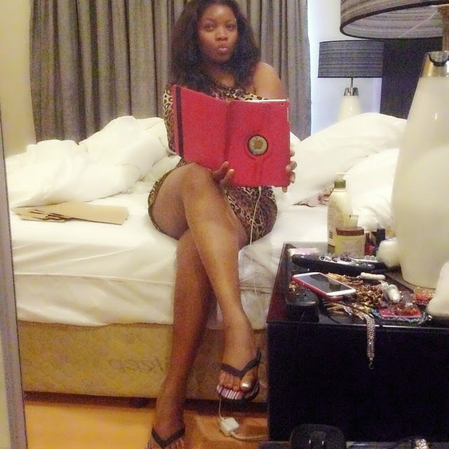 omotola jalade vacation south africa
