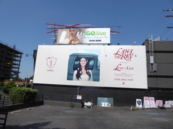 Lana Del Rey Lust for Life billboard